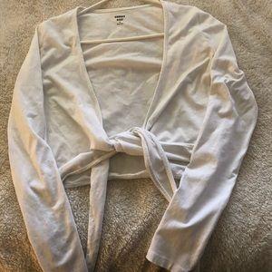 Sunday's Best Longsleeve white tie top